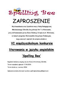 ZAPROSZENIE spelling bee