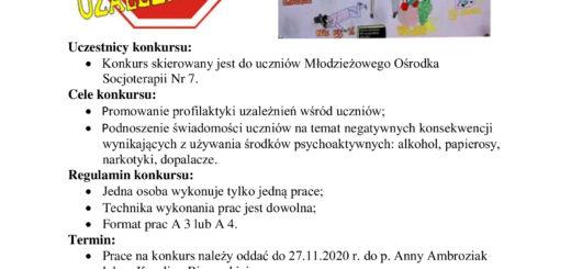 konkurs Wolni od uzależnień MOS Nr 7 2020